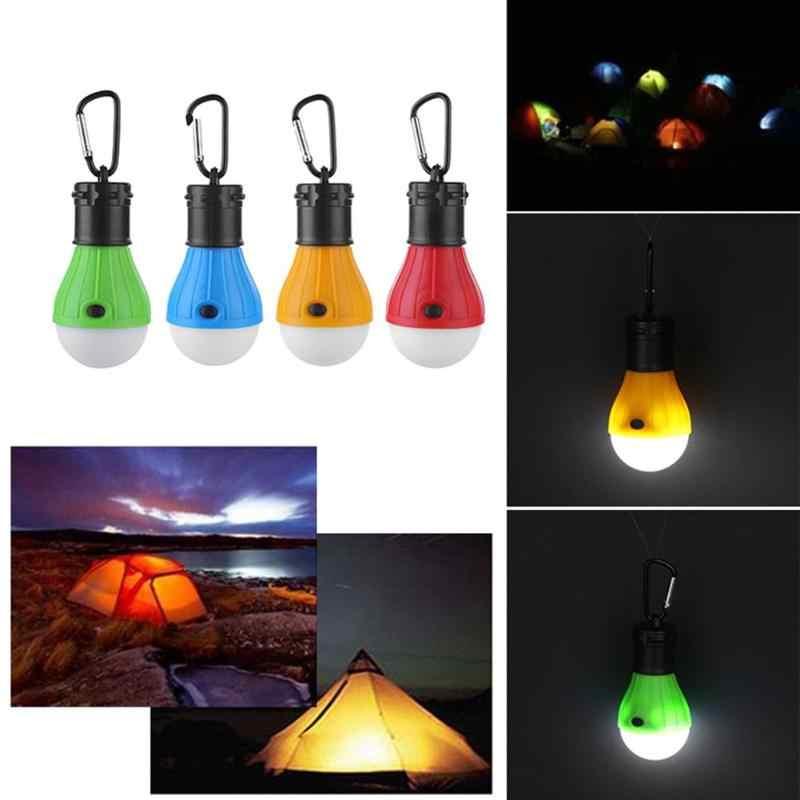 مصباح محمول مصباح خيمة في الهواء الطلق الطوارئ شنقا هوك مصباح يدوي 3 طرق حلقة تسلق لمبة إضاءة 4 ألوان SOS الطوارئ ضوء
