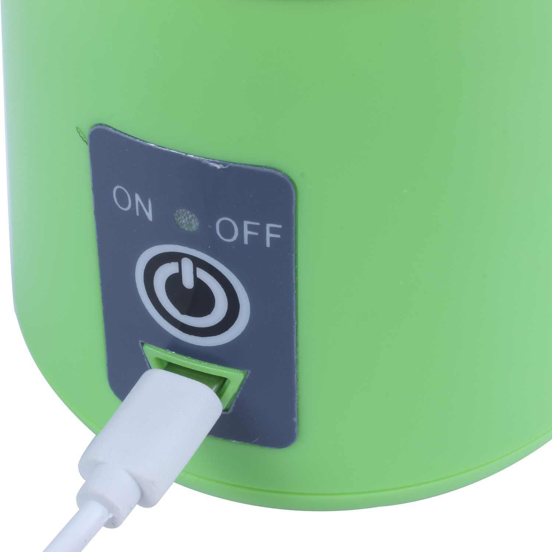 USB Copo Espremedor, Liquidificador o Suco Portátil, Misturador de Frutas Casa-Seis Lâminas, 400 ml de Fruta Máquina de Mistura com Cabo do Carregador USB