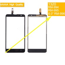 10Pcs/lot For Nokia Lumia 1320 N1320 RM-994 RM-995 RM-996 Touch Screen Touch Panel Sensor Digitizer Front Glass Touchscreen high quality replacement parts for nokia lumia 1320 touch screen digitizer n1320 lcd glass with flex cable 1 piece free shipping