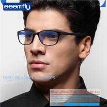 Seemfly очки для чтения мужские анти-Синие лучи Пресбиопия очки Анти-усталость Компьютерные очки с+ 1,5+ 2,0+ 2,5+ 3,0+ 3,5+ 4,0