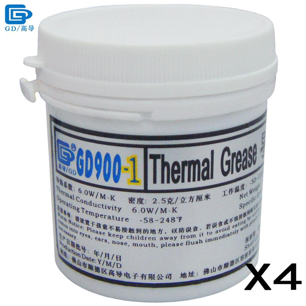 GD900-1 Thermal Conductive Grease Paste Silicone Plaster Heatsink Compound 4 Pieces Net Weight 150 Grams Containing Silver CN150 цена и фото