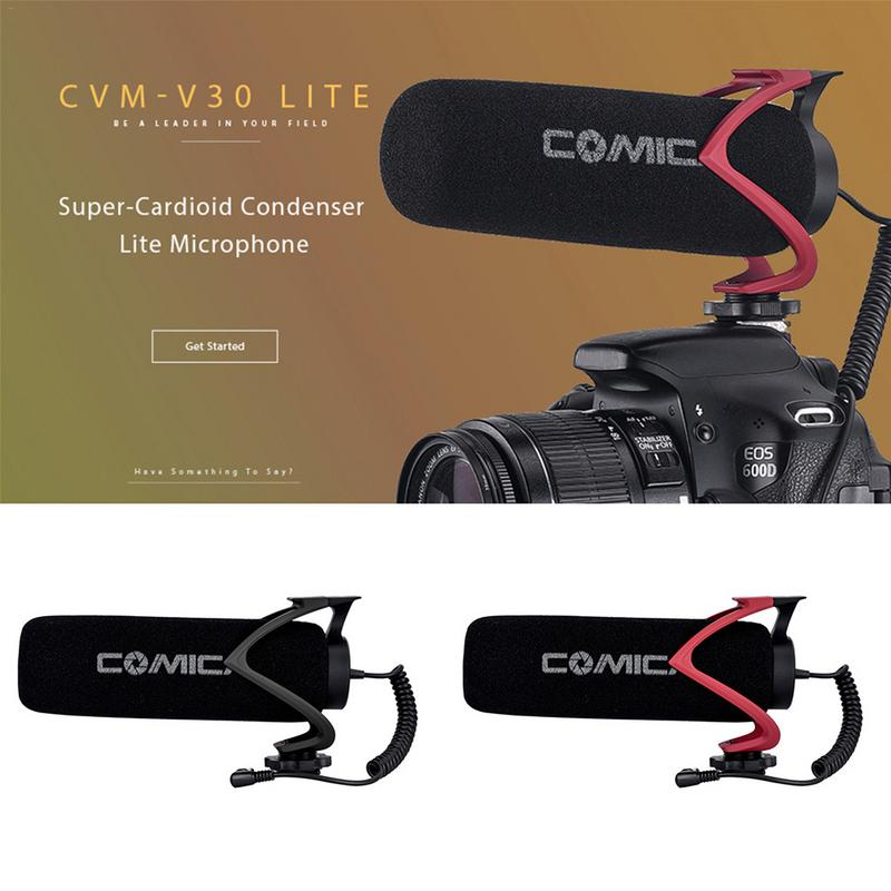 Comica CVM V30 LITE Supercardioid Directional Condenser Light Version Microphone For Camera Smartphone Meanwhile The PC