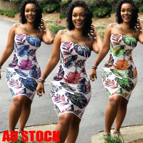 Women Bohemian Summer Boho Sundress Lady Casual Floral Bandeau Summer Mini Dress