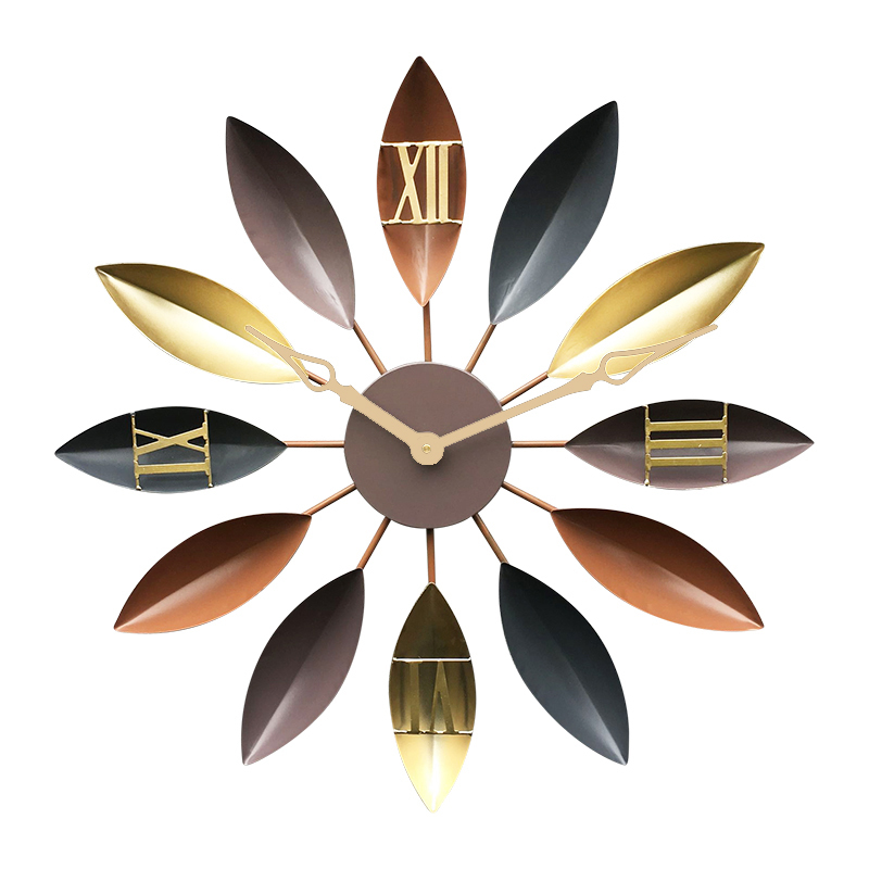 Horloge murale de salon méditerranéen en fer forgé simple muet table décorative moderne horloge créative mode horloge européenne-in Horloges murales from Maison & Animalerie    3