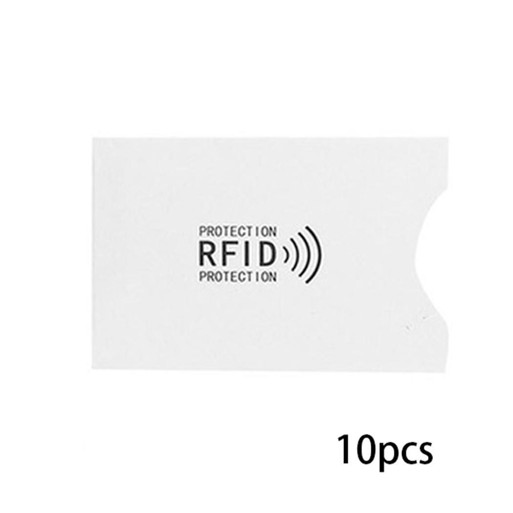 10Pcs RFID Blocking Sleeve Credit Card Holder Protection Case Wallet Pcs Bag Prevent Strong Electromagnetic Field Damage