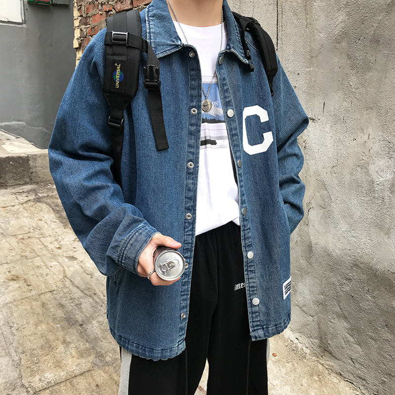 2019 Spring And Summer New Arrivals Trend Korean Version Of The Couple Harajuku Large Size Casual Long sleeved Denim Jacket Best