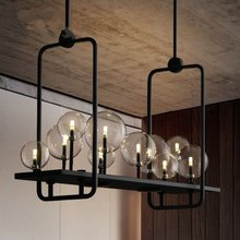 Nordic Art LED Pendant Lamps Industrial Restaurant Pendant Lights American Glass Ball Hanging Lamps Living Room Kitchen Fixtures magic beans dna lustres wrought iron industrial cafe project 5 lamps nordic art deco glass ball led pendant hanging lights