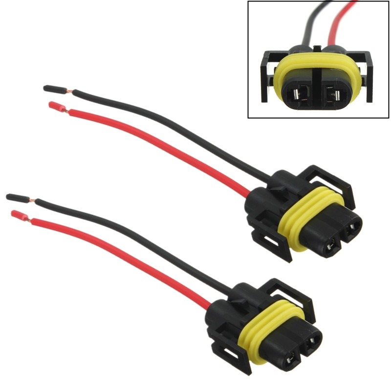 H8 H11 Female Adapter Wiring Harness Sockets Wire For Headlights Or Fog Lights