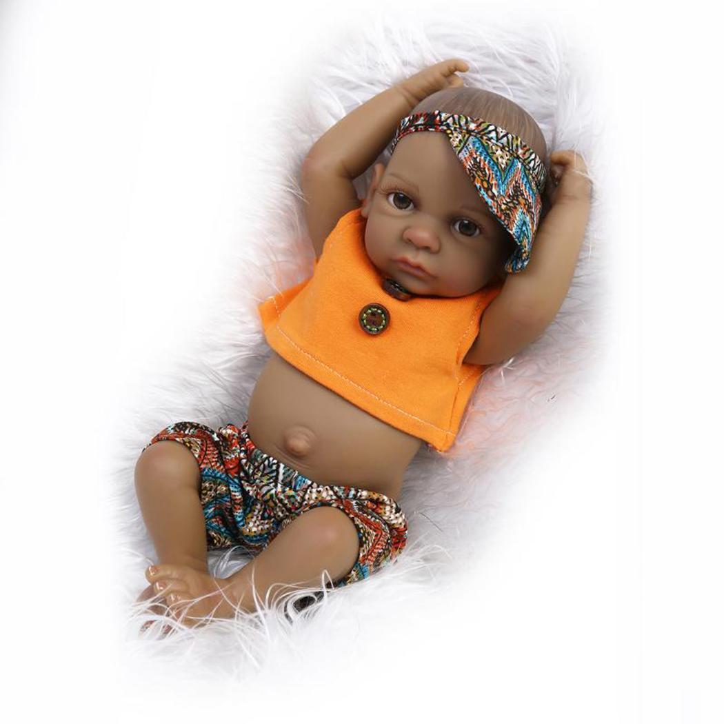 bebes reborn doll 10'' New Handmade Silicone reborn baby adorable Lifelike toddler Bonecas girl kid menina de silicone lol doll