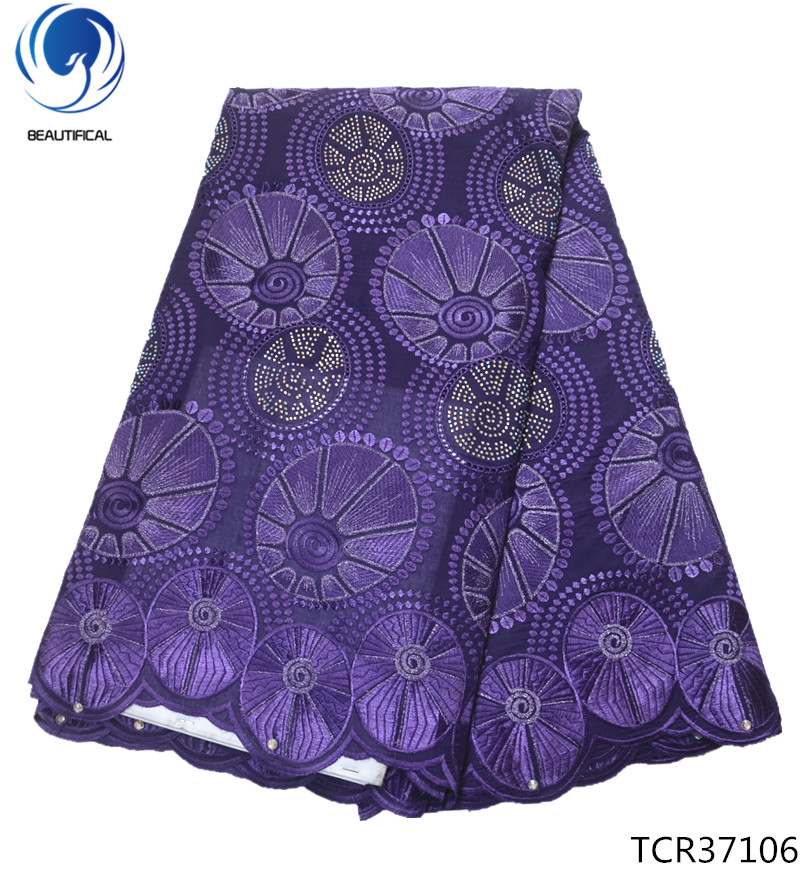 BEAUTIFICAL lace fabric cotton nigerian lace fabrics swiss voile lace in switzerland high quality purple 2019 arrival TCR371BEAUTIFICAL lace fabric cotton nigerian lace fabrics swiss voile lace in switzerland high quality purple 2019 arrival TCR371