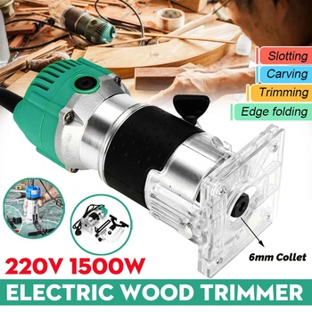 220V 1500W Electric Wood Trimmer Wood Laminator Router For Joiners Lift Knob Cutting Exact for Wooden