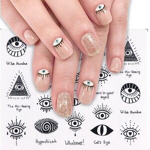 Image 2 - 19pcs Charming Leopard Slider Nail Designs Water Decals Nail Art Sticker Foils Wraps DIY Winter Sexy DIY Eye Manicure Set CH765