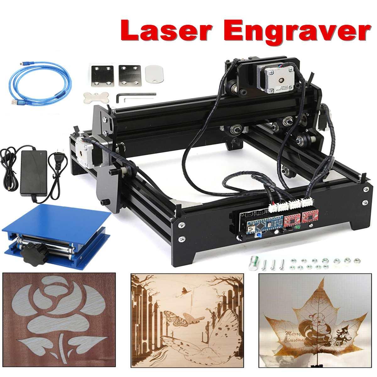 15 W bricolage Laser graveur Machine USB bureau gravure Machine bois routeur Mini marquage Machine avancée jouets 15000 mw