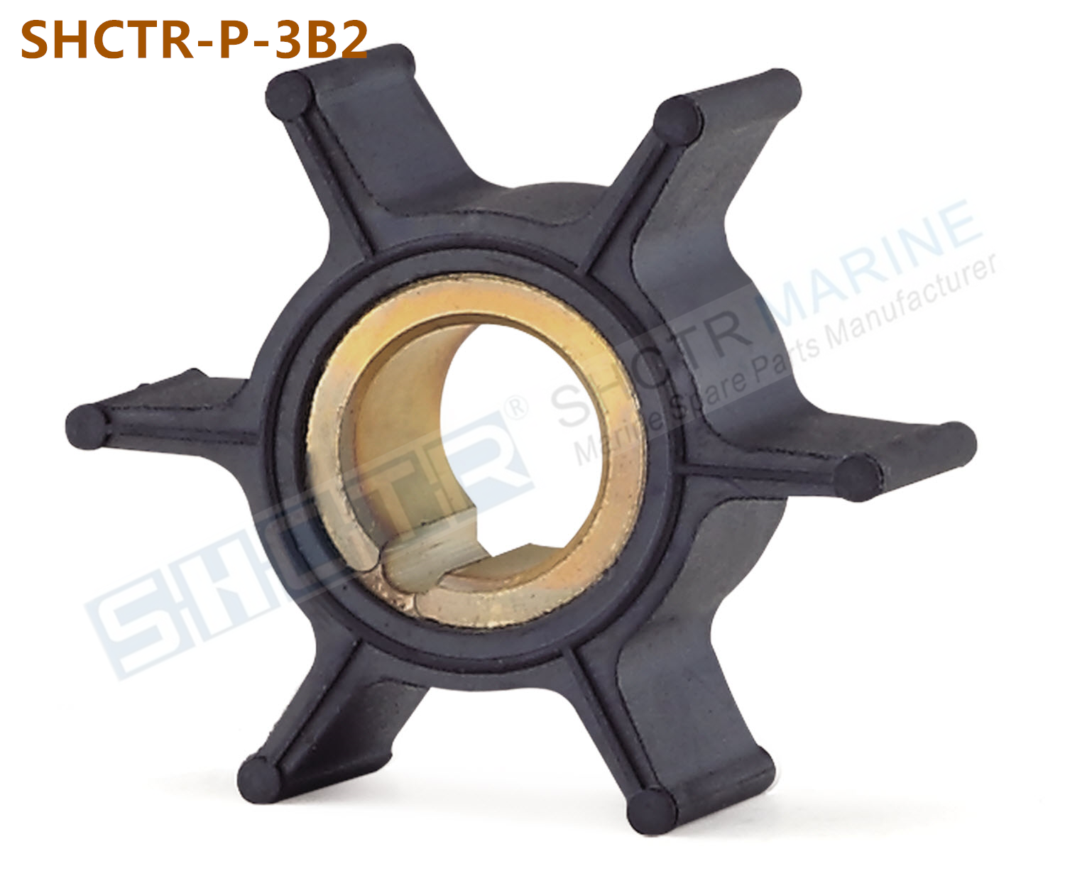 SHCTR Outboard Impeller For Mercruiser 3B2-65021-1,Sierra 18-8920,CEF 500344,6/8/9.8HP
