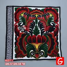 GUGUTREE embroidery big totem patches flower badges applique for clothing DX-12