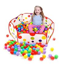 Baby Foldable Colorful Polka Dot Game Play Tent Pool House with 50Pcs Ocean Balls