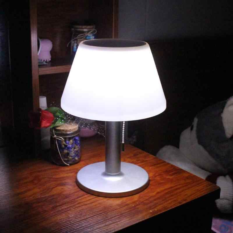 Led Stainless Steel Solar Table Lamp