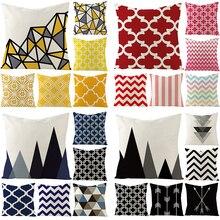 Yellow Cushion Cover Geometry Nordic Sofa Cushion Cover Case On The Pillow Pillow Covers Home Textile Throw Pillow Covers недорго, оригинальная цена