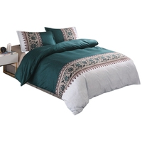 JEYL 3D Boho Bedding Printed Comforter Sets King Twin Size Luxury Bed Linen Duvet Cover Sheet Set Home Textiles