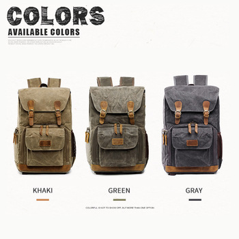 Camera Bag Batik Canvas Waterproof Photography Bag Outdoor Wear-resistant Large Camera Photo Lens Backpack for Canon/ Sony/Nikon 3