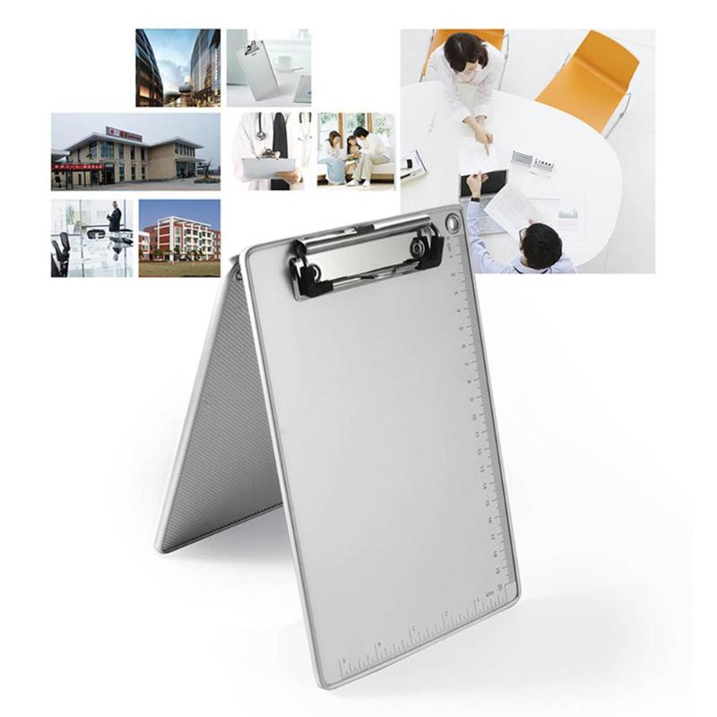 Aluminum Alloy Clipboard Anti-skid Writing Board Clip Writing Pad File Folder Document Holder Student School Office Stationery
