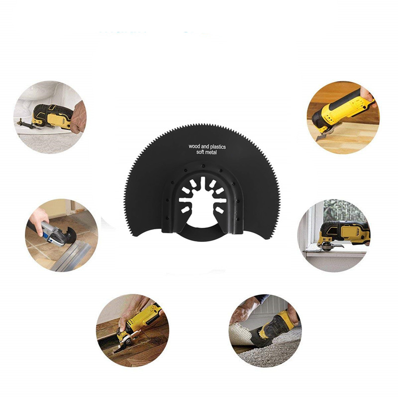88mm HCS Segment Saw Blade Multi Tools For Multimaster Fein Dremel Renovator Power Tool For Woodworking Metal Cutting