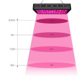 1200 Вт Светодиодный светильник для выращивания двойной чипы растущая лампа полный спектр для гидропоники водных растений Выращивание овоще