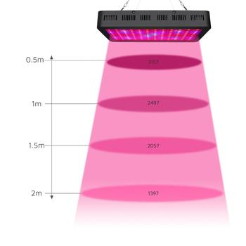 1200W LED Grow Light Double Chips Growing Lamp Full Spectrum for Hydroponics Aquatic Plants Veg Growing and Blooming 2pcs lot 1000w double chips led grow lights full spectrum growing lamps for greenhouse hydroponics systems free shipping