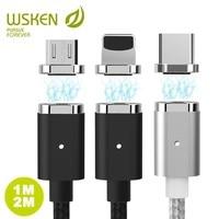 Wsken USB Магнитный зарядный кабель для iPhone Xs 8 7 6 6s Qc2.0 быстрое зарядное устройство провод Micro usb type C кабель для мобильного телефона samsung