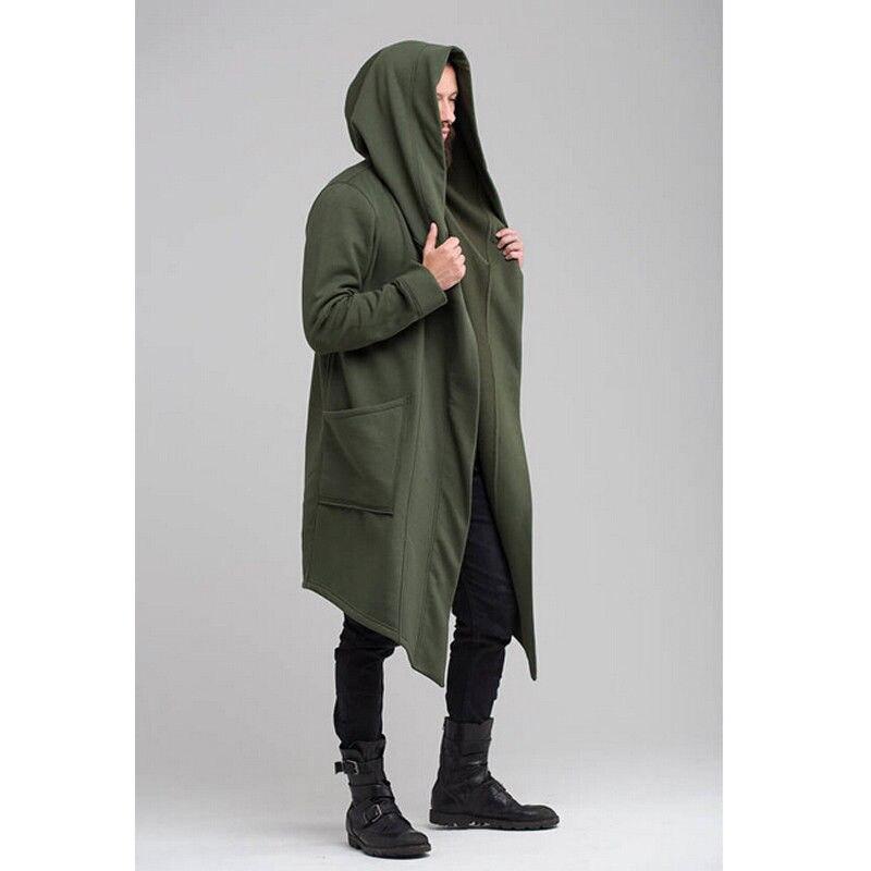 Unisex Casual Open Stitch Hooded Long Cloak Cape Coat Men Women Solid Pocket Loose Clock Coat Unisex Casual Open Stitch Hooded Long Cloak Cape Coat Men Women Solid Pocket Loose Clock Coat