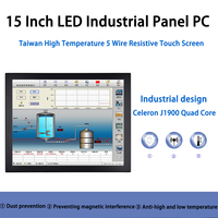 15 Inch LED Panel PC,Taiwan 5 Wire Touch Screen,Industrial Panel PC,Intel J1900,Windows 7/10/Linux Ubuntu,[HUNSN DA06W]