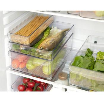 Plastic Storage Bins Refrigerator Storage Box Food Storage Containers With Lid Kitchen Fridge Cabinet Freezer Organizer Gadgets kitchen stackable sealpot plastic containers box with buckle storage box for food cereal container fridge organizer storage