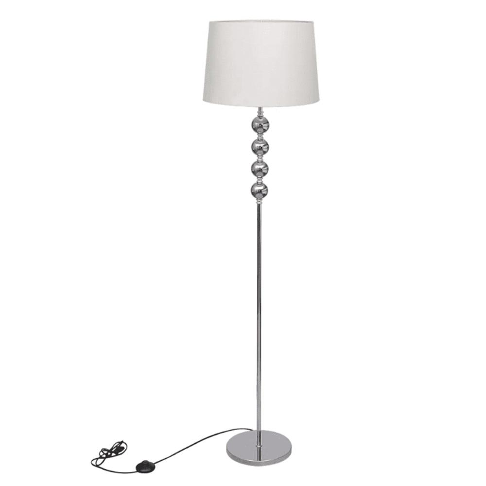 Vidaxl 220-240V White Stylish Floor Lamp 4 Balls Stack Tube Round Lampshade Floor Lamp With Tripod Feet Sharp Footswitch