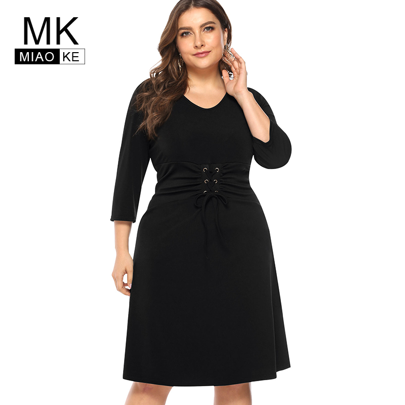 Miaoke Ladies Plus Size bandage dress Waist dresses women High ...