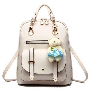 Image 4 - 女性 mochila 女性 bagpack 女の子ための十代の簡潔な女性のバックパックバッグ嚢 a ドスバックパック sırt çantası ミニバックパック
