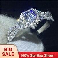 Ручной работы в форме сердца обещание кольцо 100% Soild 925 пробы серебряные ювелирные изделия фианит AAAAA обручение обручальное кольца для женщин
