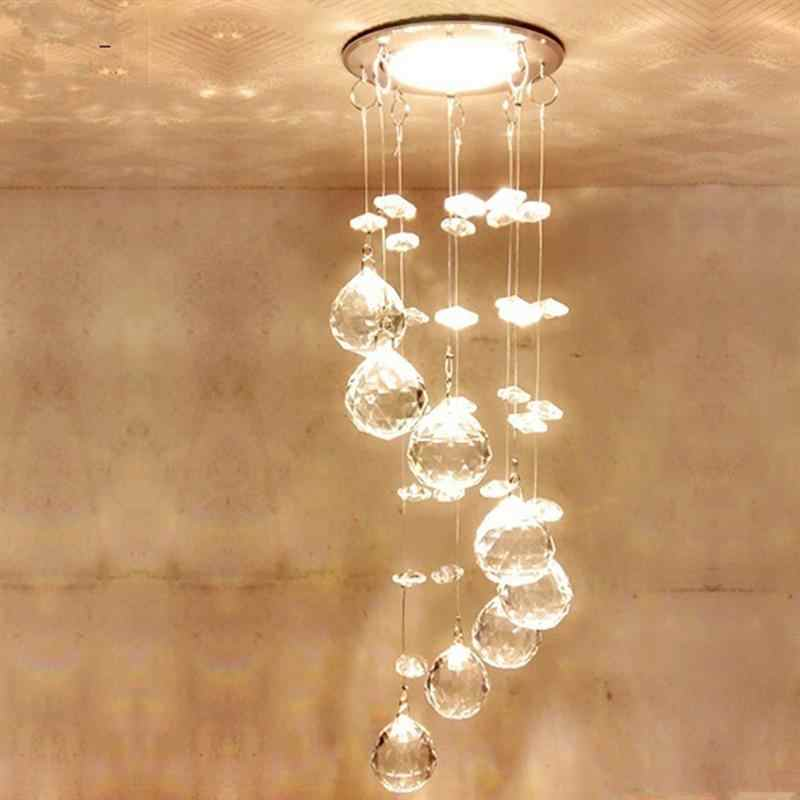 Suspension Hanging Crystal LED 3W Ceiling Lamp Corridor Balcony Aisle Hallway Lights Living Room Indoor Light Lighting