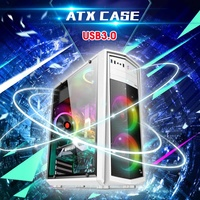 Desktop Computer Mainframe ATX Case Full side Game Home Office Chassis USB3.0 385x180x435mm Computer Cases & Towers