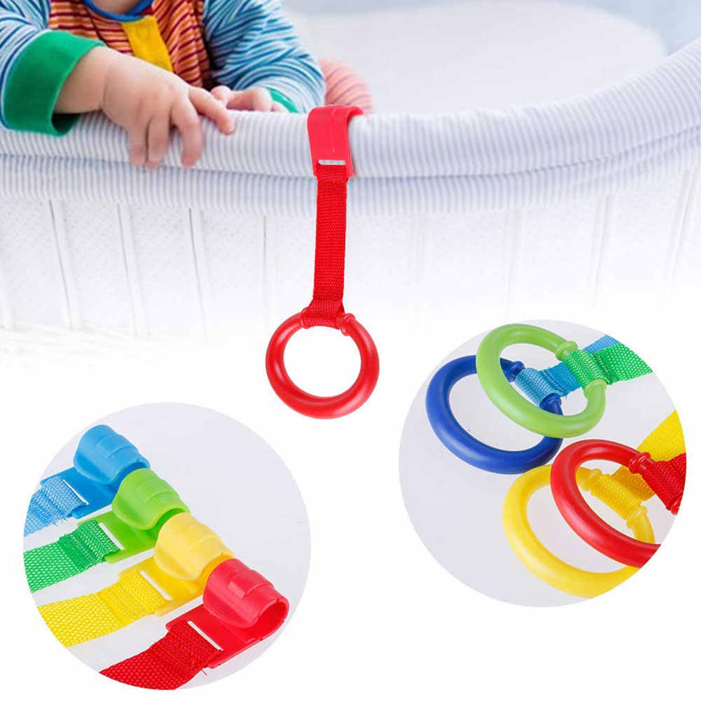 Baby Bed Wake Up Pendants Toys Travel Foldable Pull Ring Multi-color Hook Space Saving Stand Up Home Non-toxic Crib Portable