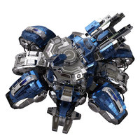 3D Metal Puzzle Scale Model Terran Siege Tank High Difficulty Creative DIY Hobby Collection Toys For Children Free Shipping