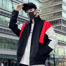 2019 New Fashion Causal mens jackets and coats Male clothes streetwear reflective Zipper windbreaker Free shipping