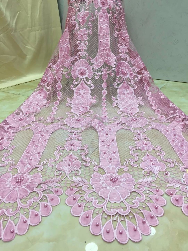 Water Soluble Lace Fabric For Sewing Dress Latest Guipure Lace Fabric For Clothes Material African Laces