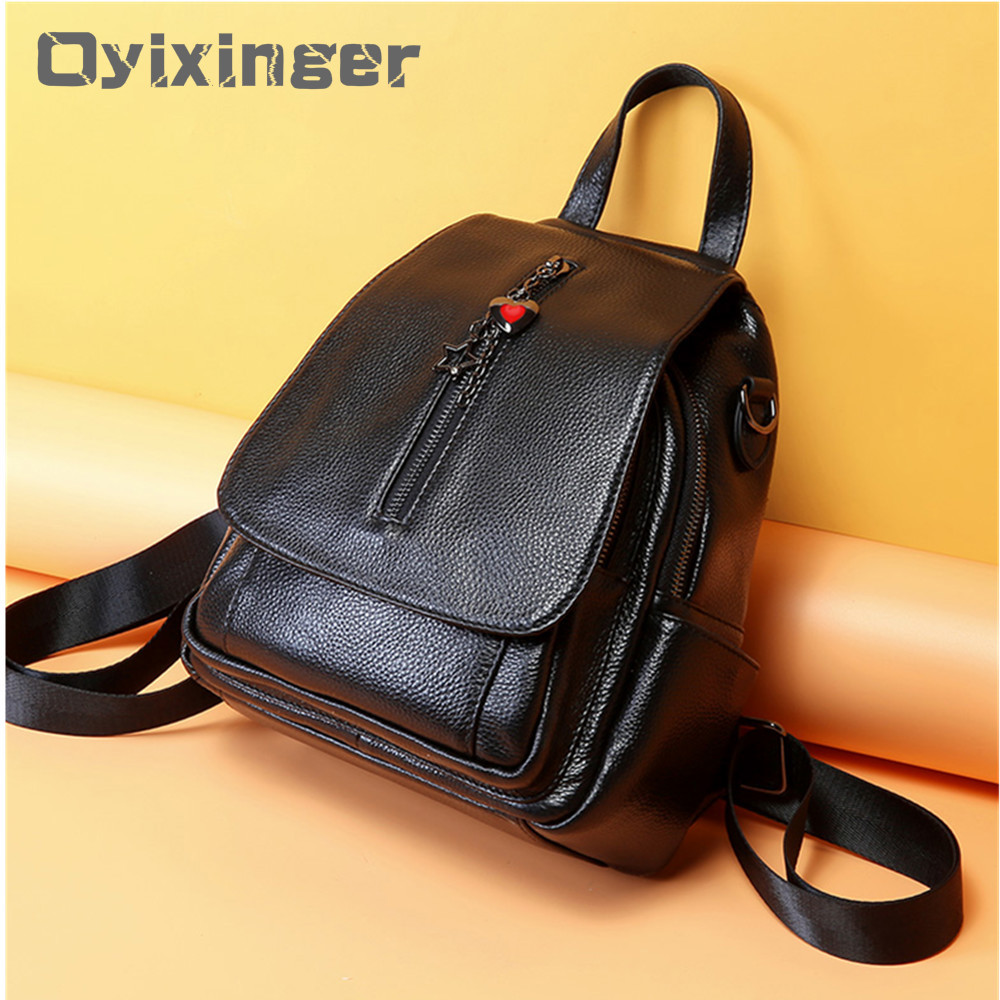 Newest 100% Genuine Leather Womens Backpack High Quality Ladies Backpacks Bag For Girls School Bags Women Bagpack 2019 MochilaNewest 100% Genuine Leather Womens Backpack High Quality Ladies Backpacks Bag For Girls School Bags Women Bagpack 2019 Mochila