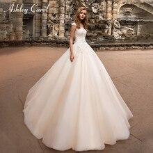 Ashley Carol Wedding Dress 2019 A-Line V-neck Court Train