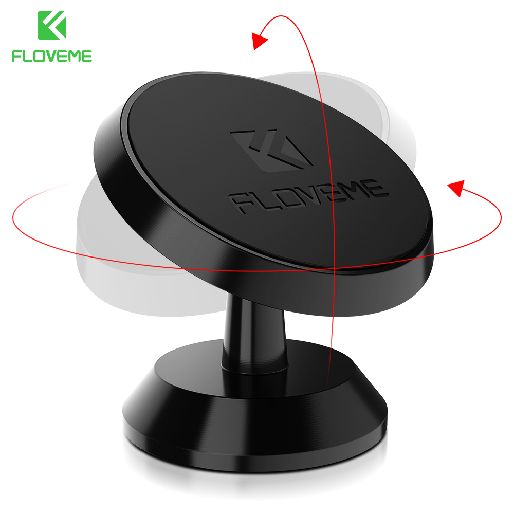 FLOVEME Universal Phone Car Magnetic Holder Stands For iPhone X XR 7 8 6 360 Degree Rotation Stand Samsung