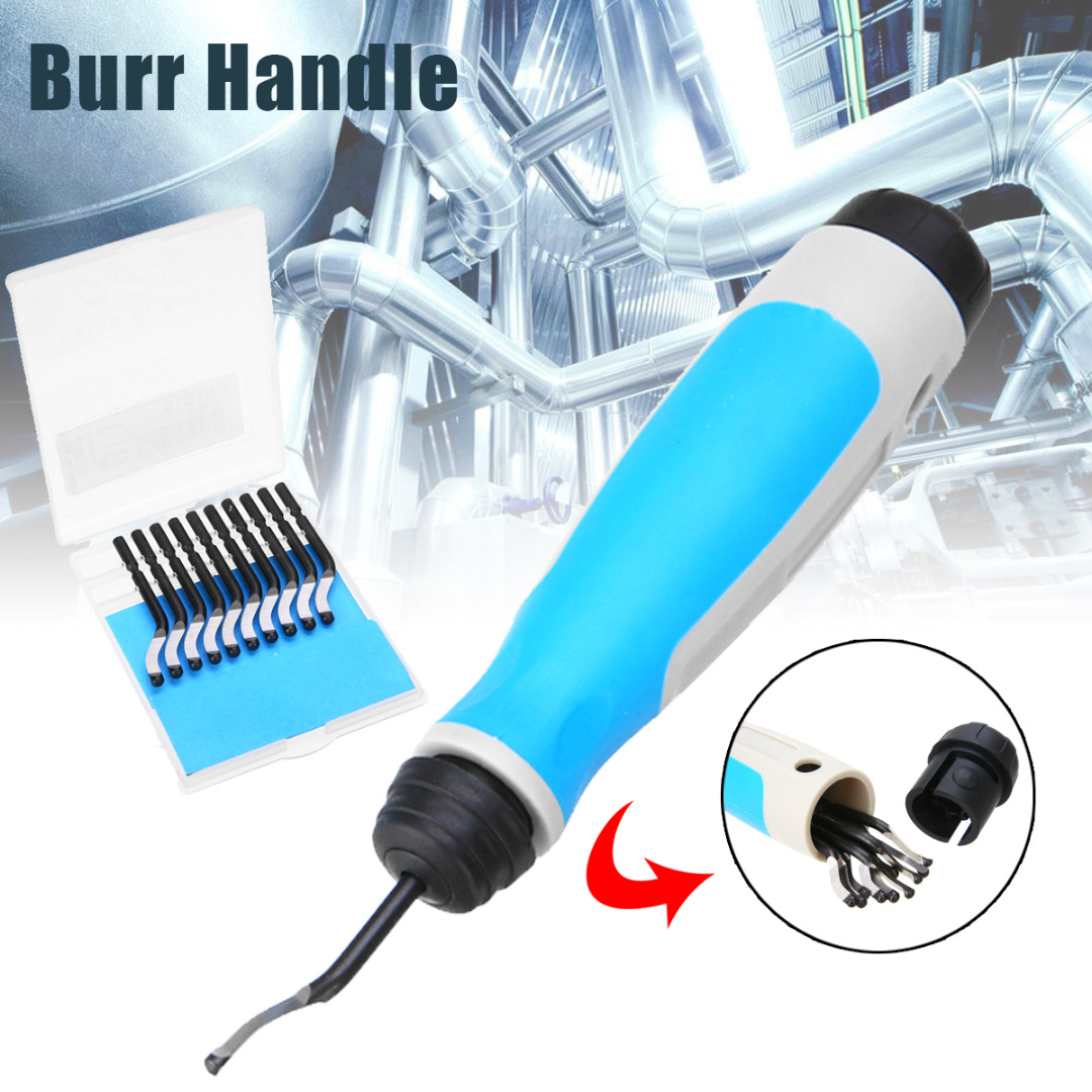 High Speed Steel Burr Handle BS1010 S10 Blades NG1001 Burr Handle Hand Deburring Tool Wood Plastic Metal