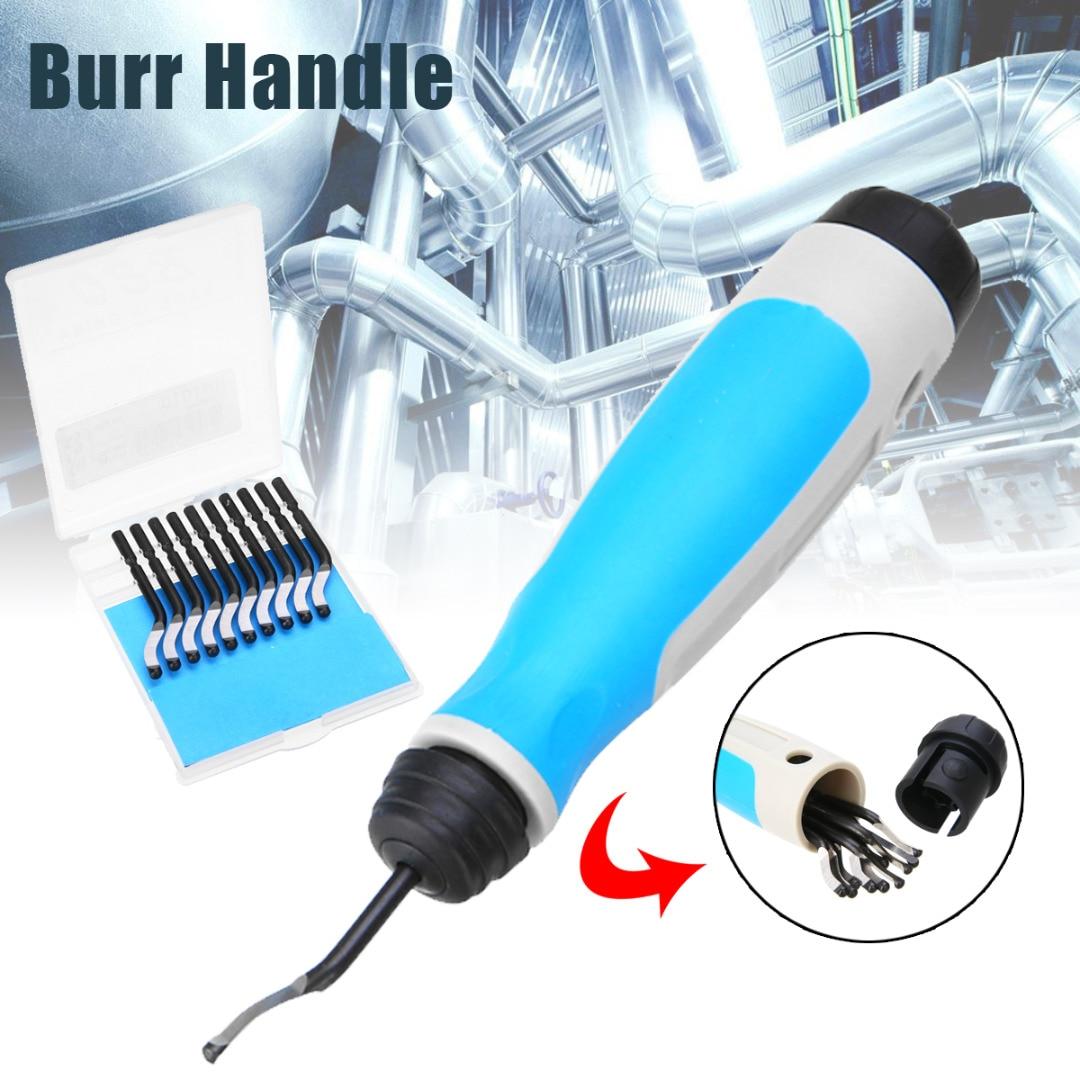 High Speed Steel Burr Handle BS1010 S10 Blades NG1001 Burr Handle Hand Deburring Tool Wood Plastic Metal