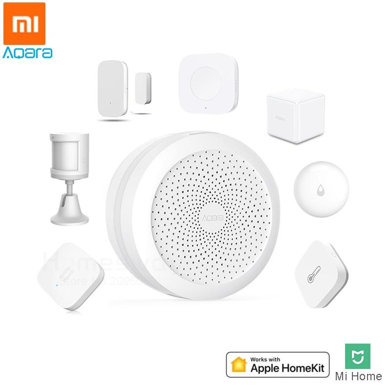 Xiaomi Aqara Smart Home Kits Gateway Hub Wireless Switch Door Window Sensor Human Body Water Sensor Works With Apple HomeKit