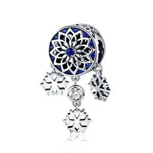 Sıcak Satış 925 Ayar Gümüş Kar Tanesi Çiçek ve Dream Catcher Boncuk Charms Fit Pandora Bilezik Kolye Takı Scc1117