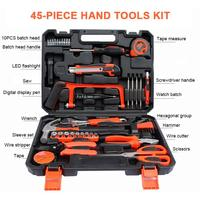 45pcs Home Repair Tool Set Daily Use Hardware Tool Kit with Tool Box Durable Long Lasting Tools Perfect for DIY Home Maintenance